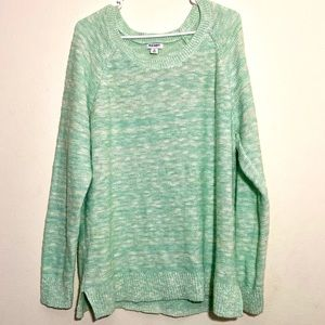 Plus Size Old Navy Mint Slouchy Sweater
